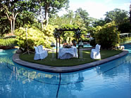 フィリピン・セブ島のホテルの庭園